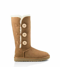 UGG 1016227 Women's Bailey Button Triplet II Boots Color:Chestnut (Size: U.S 7