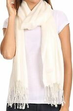 Women's Beautiful Solid Neck Head Pashmina Wrap Shawl Scarf Perfect Party Favor