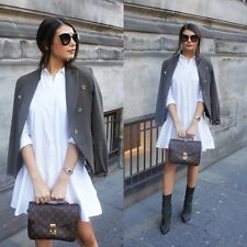 NEW ZARA WHITE SHIRT DRESS MID-LENGTH Ref .2406/436 - SOLD-OUT SIZE XS
