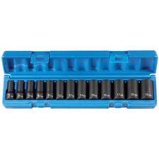 Grey Pneumatic 13 Pc 3/8'' Drive Semi–Deep Length Metric Socket Set - 1213MSD