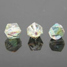 12 Pieces Swarovski 6mm split facet Crystal bead A Rose green