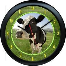 "Personalized Dairy Cow Farm Animal Print 10.75"" Wall Clock Gift"