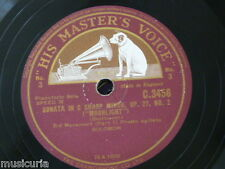 "78rpm 12"" SOLOMON beethoven moonlight sonata , sides 3&4 ,movement 3 only C 3456"