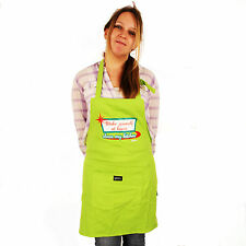 Grimm Make Yourself At Home Clean My Kitchen Green Adjustable Apron Pocket NWT