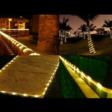 40ft 100 LED Solar Power Rope Tube Lights Strip Waterproof Outdoor Garden Party