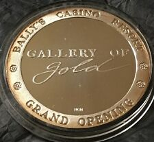 Bally's Casino 1.25 Oz .999 Fine Silver Gallery Of Gold Reno Nevada 1 1/4 Ounce