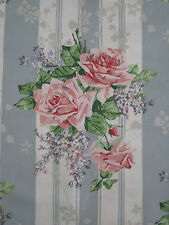 "SANDERSON CURTAIN FABRIC ""Cecile Rose"" 1.2 METRES DUCK EGG/ROSE VINTAGE 2 COLL"