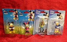 "4 Figurines DISNEY MICKEY MINNIE MOUSE, DONALD DUCK GOOFY 3"" Cake Toppers Decor"