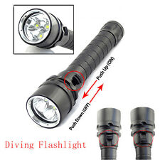 8000LM 3xXM-L2 LED Diving Flashlight Torch Lamp Waterproof Underwater 100M Light