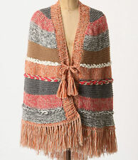 Augden Hand Crafted Pirai Poncho One Size Multi Color NW ANTHROPOLOGIE Tag
