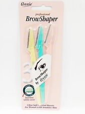 ANNIE 3 BROW SHAPER EYEBROW RAZOR STAINLESS SAFETY COVER FOR SENSITIVE SKIN
