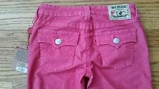 NWT True Religion Girls Billy Pink Boot Cut Corduroy jeans size 12-back 2 school