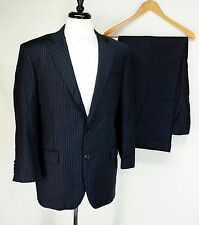 Brooks Brothers Custom 1818 Regent Navy Blue Pinstripe Wool Suit 42R 37W USA