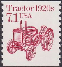 US - 1987 - 7.1 Cents Lake 1920's Tractor Transportation Coil Issue # 2127 Mint