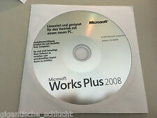 Microsoft Works Plus 2008 (1 PC) für Windows - NEU - Word 2003 & Works 9.0