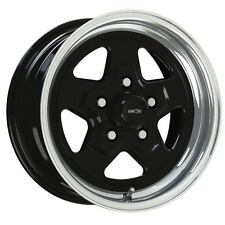 15X8 VISION NITRO BLACK SPORT STAR PRO DRAG RACING WHEEL 5X4.75 1pc NO WELD 4.5""