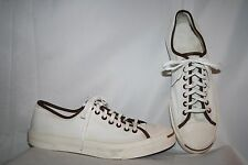 Converse Jack Purcell Men's Sneakers Size 12 White/Ivory Brown Chocolate