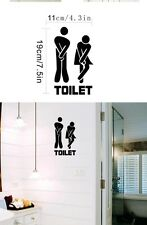 Creative Funny Toilet Entrance Sign Decal Vinyl Sticker For Man And Women Toile