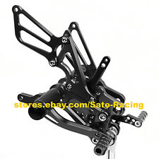 Black CNC Rearset Footpegs Rear set For Honda CBR600RR 2003 2004 2005 2006 Hot