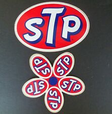 STP Original Decal Stickers 1 Flower & 1 Oval Nascar Indy Racing NOS 1960's