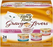 Fancy Feast Wet Cat Food, Gravy Lovers, Poultry and Beef Variety Pack, 3-Ounce C