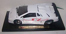 Lamborghini Diablo SV Maisto 1/18 Scale Die-Cast Collectible (White) on base
