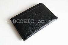 100% authentic CHANEL timeless card holder black caviar leather cc cardholder