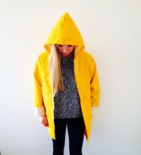 New Unisex Yellow Festival Fisherman Style Rain Coat / Rain Mac / Jacket