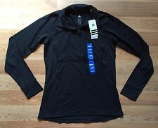 NWT Women's ADIDAS Active BLACK Track Exercise ULT Pullover Jacket 1/4 Zip Large