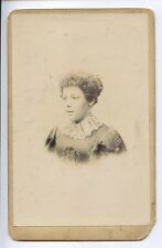 (V56-100) Victorian Real Cabinet Photo, Lady in Crinoline by Field of Leeds G