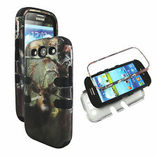 Hybrid Tuff Camo  Deer R   for Samsung Galaxy S3 III I9300 Case Cover