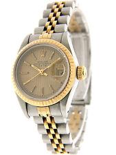 Rolex Datejust Ladies 18K Gold Stainless Steel Quick-Set 69173 26mm