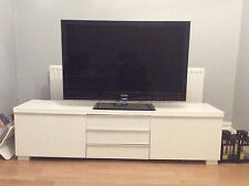 IKEA White Gloss -  TV Cabinet Stand - BEST A BURS