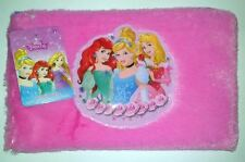 DISNEY PRINCESS CINDERELLA ARIEL BELLE PINK 2016 PENCIL ZIP CASE!  FREE SHIP!