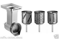 MVSA Accessori KitchenAid Grattugia + 3 Cilindri attachment Robot Cucina Artisan