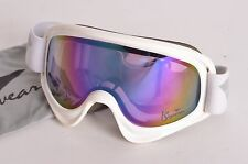 2011 WOMENS IS EYEWEAR SLINGSHOT GOGGLES $75 O/S white purple mirror USED
