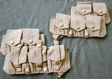 WWI BRITISH CANADIAN COMMON WEALTH INFANTRY P1908 2ND PATTERN AMMO POUCHES