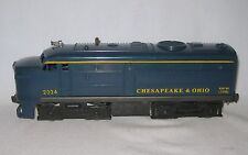 "Lionel No. 2024 Chesapeake & Ohio Alco ""A"" Diesel Locomotive, Blue"