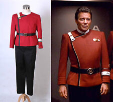 Star Trek II-VI Wrath of Khan starfleet Costume Uniform Full Set *Tailored*