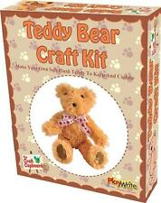 NEW MAKE YOUR OWN PLUSH TEDDY BEAR TO SEW CHILDREN'S CRAFT KIT SET PW