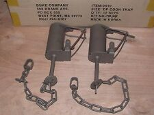2 Powder Coated Duke DP Dog Proof Coon Traps Trapping Raccoon