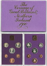 BRITISH COINS: 1980 Great Britain & Northern Ireland Proof Coin Collection Set