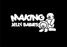 W325 MAKING JELLY BABIES FUNNY CAR WINDOW BUMPER DECAL STICKER VINYL