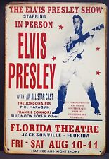 Elvis Presley Florida Theatre Vintage Retro Tin Metal Sign Plaque Home Decor