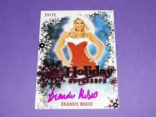2014 Benchwarmer BRANDIE MOSES Holiday Pink Foil Autograph/25 PLAYBOY Easy Rider