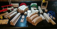 Large Wooden Train Lot (93 Pieces) Thomas/Brio/Compatible with Wooden Track