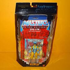 2000 MATTEL MOTU HE-MAN COMMEMORATIVE SERIES EVIL-LYN FIGURE MOC CARDED LTD ED