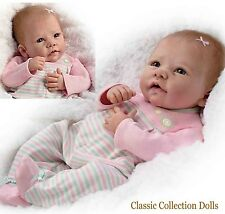 "Ashton Drake ""ELIZABETH""-LIFELIKE WEIGHTED & POSEABLE BABY DOLL-NEW-IN STOCK NOW"