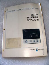 Agilent / HP 86235A / 86240A/B/C RF Plug in Module Operating & Service Manual