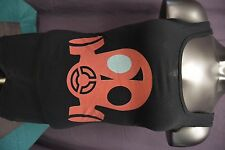 Womens Juniors Red Mask Design Shirt New S